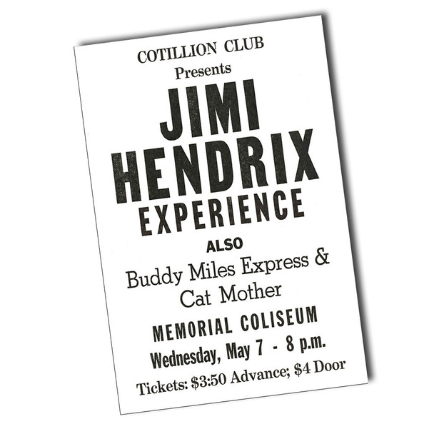 "Jimi Hendrix Cotillion Club 8"" x 12"" Sign"
