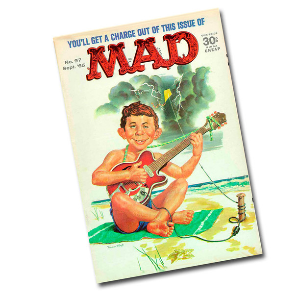 "Vintage Mad Magazine Sept. 65 8"" x 12"" Sign"