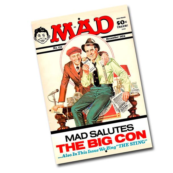 "Vintage Mad Magazine Dec. 1974 - 8"" x 12"" Sign"