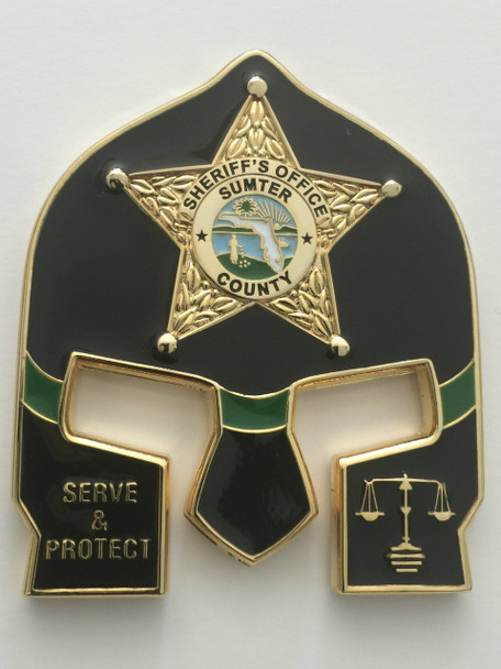 SUMTER CTY FL SHERIFF BLACK FACE WARRIOR COIN