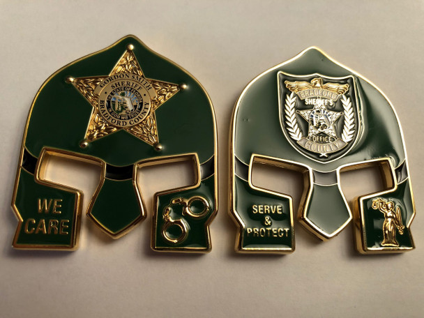 BRADFORD CTY FL SHERIFF WARRIOR COIN GREEN