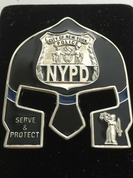 NYPD POLICE  WARRIOR  BLACK FACE COIN
