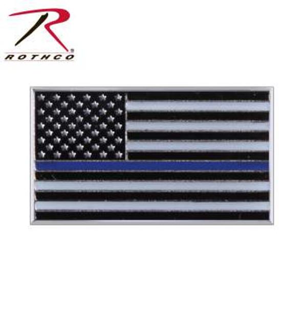 Thin Blue Line Flag Lapel Pin