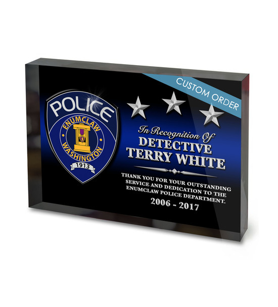 CUSTOM ACRYLIC BLOCK RECOGNITION AWARD (WPABSP) - PERSONALIZED