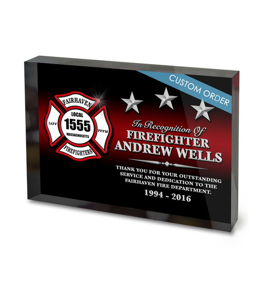 CUSTOM ACRYLIC BLOCK RECOGNITION AWARD (WPASF) - PERSONALIZED