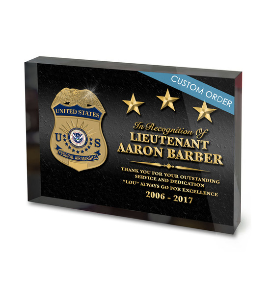CUSTOM ACRYLIC BLOCK RECOGNITION AWARD (WPABGC) - PERSONALIZED