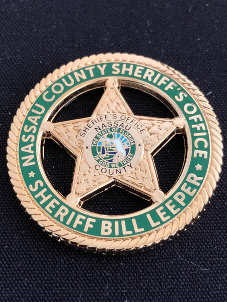 FLORIDA SHERIFF NASSAU CTY CHALLENGE COIN  SHERIFF BILL LEEPER HOST SHERIFF FOR CONFERENCE!