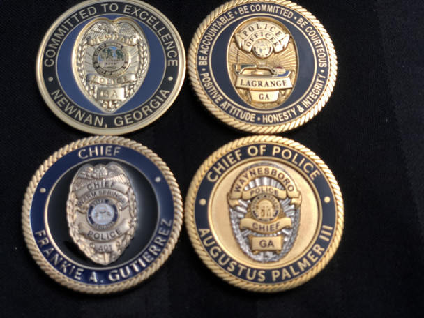 "Best way ever to add or start your ""4 PACK OF GEORGIA  POLICE OF CHALLENGE COINS RARE ""coin collection.  1.75 coins COMMAND SIZE  Always 4 different coins, AS SEEN IN PHOTOS  We pay attention to making happy customers."