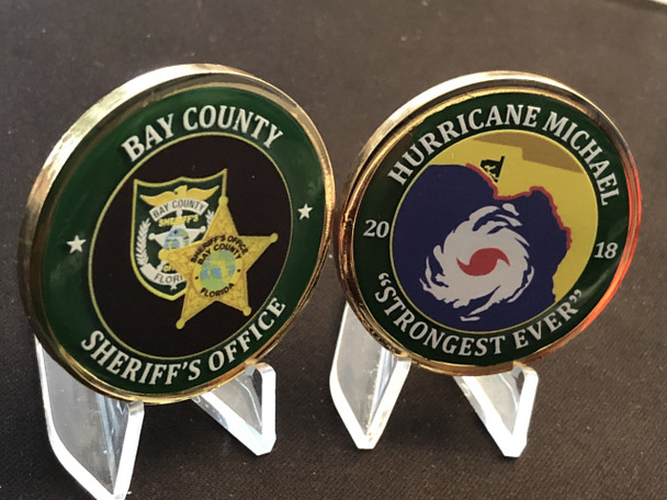 BAY CTY SHERIFF HURRICANE MICHAEL COIN USA MADE