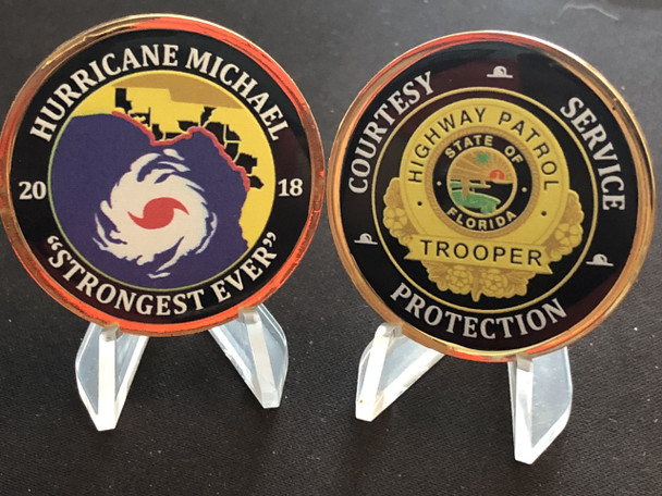FL HIGHWAY PATROL HURRICANE MICHAEL COIN USA MADE