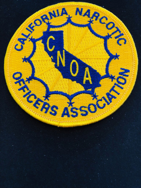 CALIFORNIA NARCOTIC OFFICERS ASSOC. PATCH OLD SCHOOL