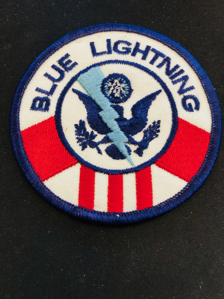 US CUSTOMS BLUE LIGHTING PATCH EXTINCT