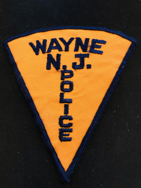WAYNE NJ POLICE PATCH DEFUNCT PATCH