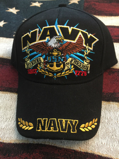 NAVY EAGLE, DEFENDING FREEDOM AND ANCHOR HAT
