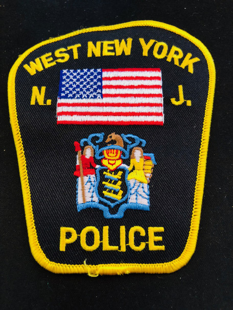 WEST NEW YORK NEW JERSEY POLICE PATCH