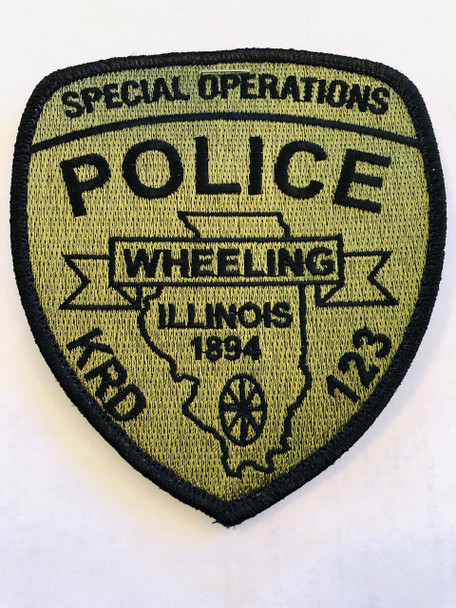 WHEELING IL POLICE SPECIAL OPERATIONS PATCH