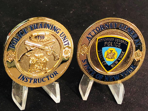 ATTORNEY GENERAL OF NY COIN  GREAT DESIGN  TRAINING UNIT  INSTRUCTOR