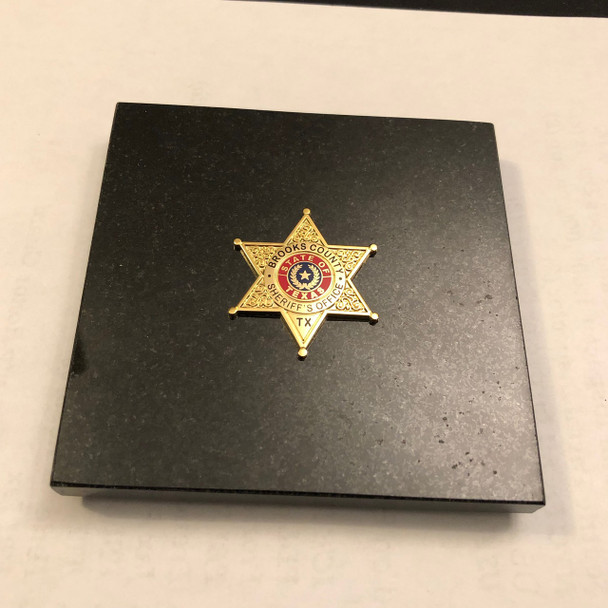 BROOKS CTY SHERIFF PAPERWEIGHT