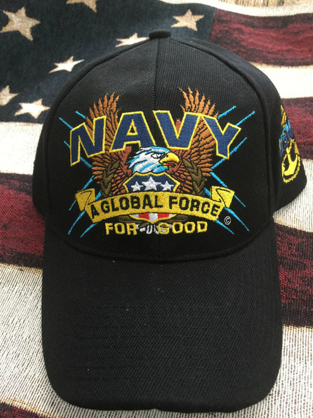 NAVY FREEDOM FIGHTER EAGLE & ANCHOR HAT