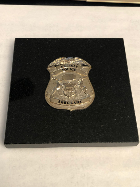 DETROIT POLICE SERGEANT PAPERWEIGHT