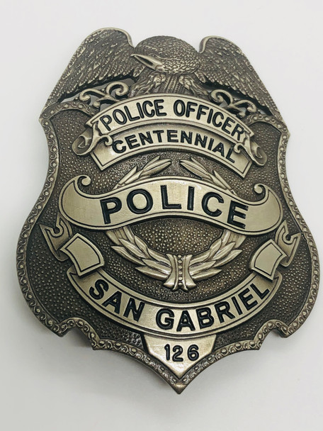 SAN GABRIEL POLICE CALIFORNIA CENTENNIAL BADGE RARE