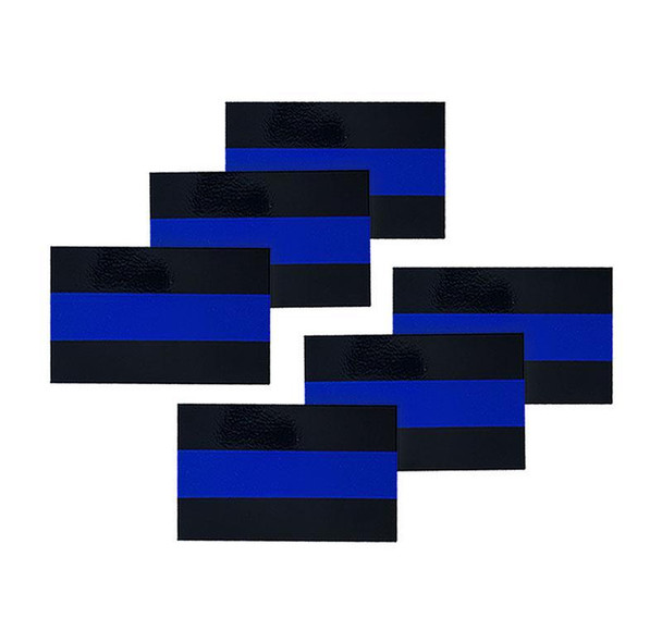 Reflective Thin Blue Line License Plate Stickers