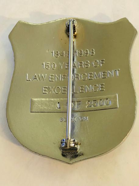 SYRACUSE NEW YORK POLICE 150TH ANNIV BADGE 1998