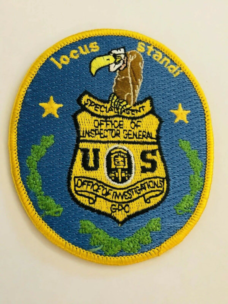 BUZZARD INSPECTOR GENERAL PATCH VERY RARE LAST ONE