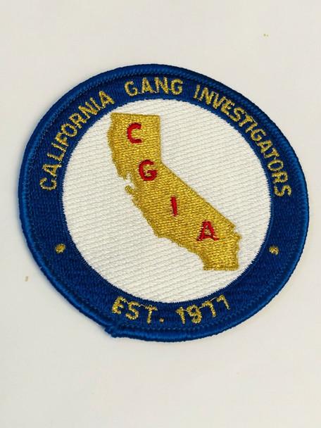 CALIFORNIA GANG INVESTIGATORS EST 1977 PATCH RARE LAST ONE