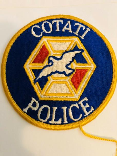 COTATI POLICE CALIFORNIA PATCH