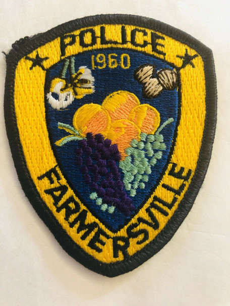 FARMERSVILLE POLICE CALIFORNIA PATCH