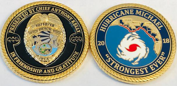 MEXICO BEACH POLICE HURRICANE FLORIDA COIN