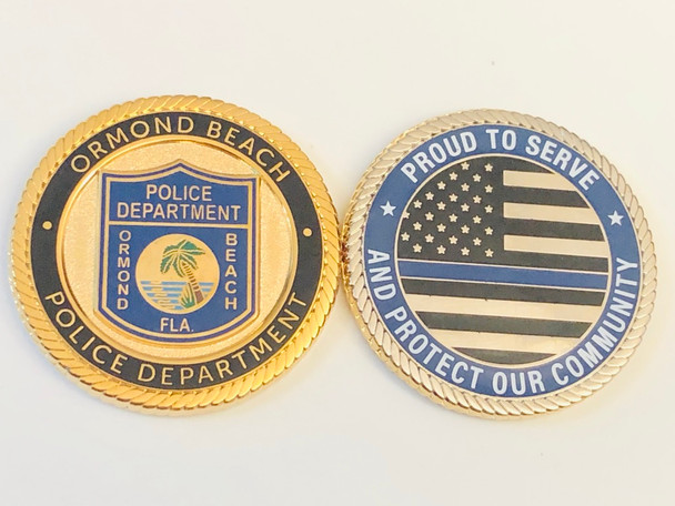 ORMOND BEACH FLORIDA POLICE COIN