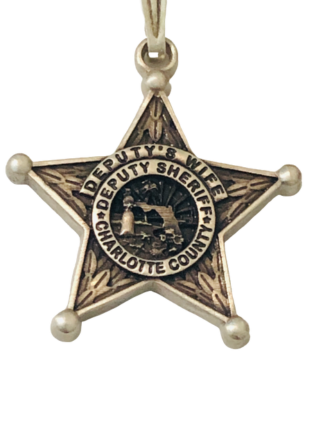 CHARLOTTE CTY SHERIFF FL CHARM 925 SILVER