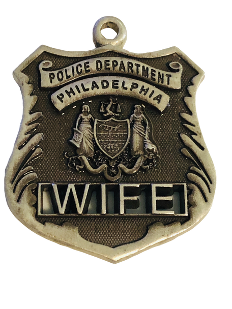 PHILLY POLICE WIFE SILVER CHARM