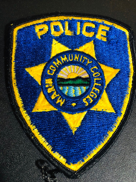 MARIN CA COLLEGE POLICE PATCH OLD RARE