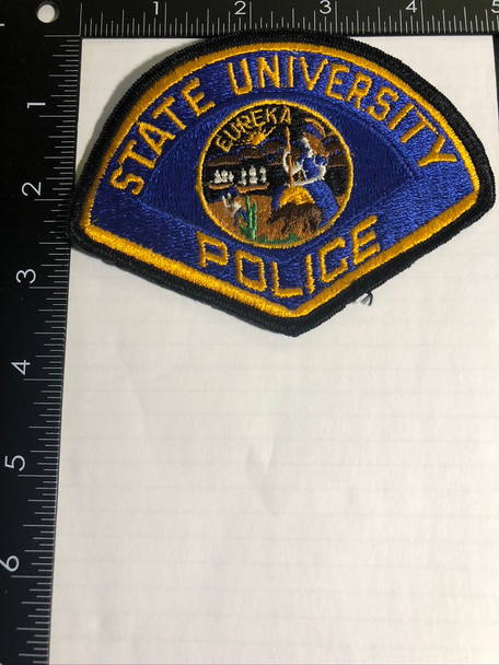 STATE UNIVERSITY POLICE CA PATCH