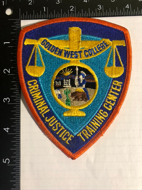 GOLDEN WEST COLLEGE CA TRAINING PATCH