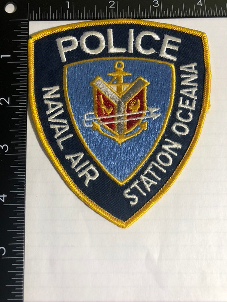 NAVAL AIR STATION OCEANA CA POLICE PATCH