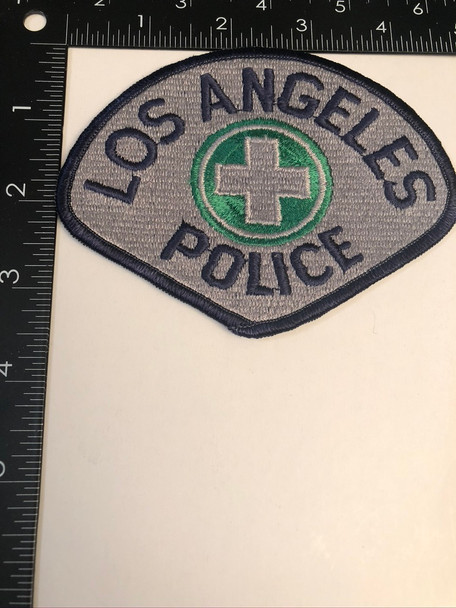 LOS ANGELES CA POLICE CROSS PATCH