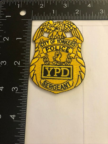 YONKERS NY POLICE SERGEANT BADGE PATCH