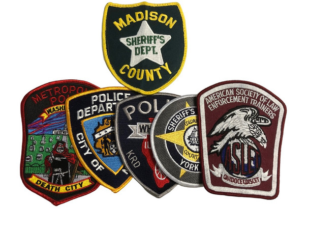 $20.00 POLICE SHERIFF PATCH KIT FREE SHIPPING!