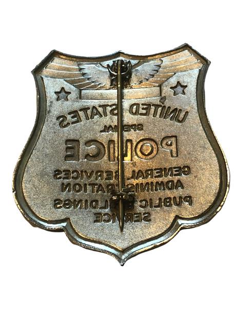 GSA US SPECIAL POLICE PUBLIC BUILDINGS SERVICE BADGE RARE