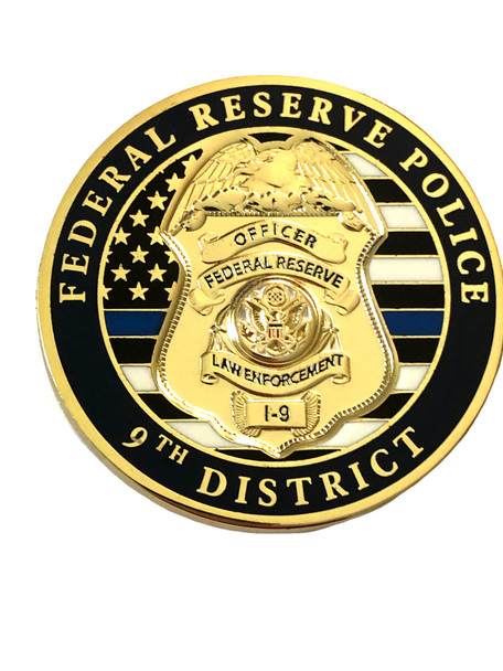 FEDERAL RESERVE BANK POLICE COIN 9TH DISTRICT