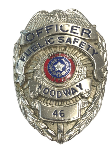 WOODWAY POLICE TX BADGE
