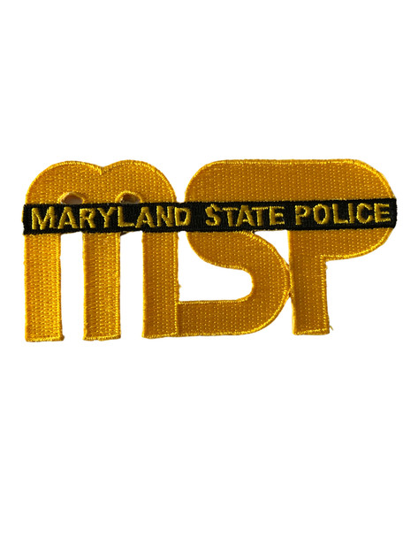 MARYLAND STATE  POLICE MD LASER PATCH