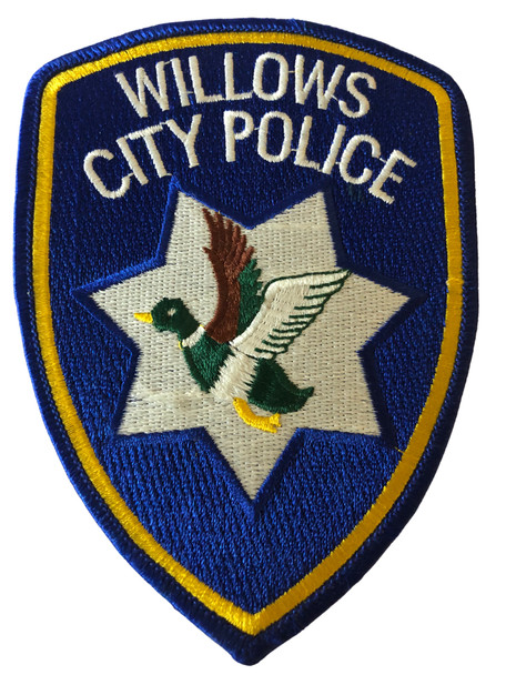 WILLOWS  POLICE CA PATCH