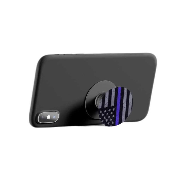 SUBDUED PHONE HOLDER - THIN BLUE LINE FLAG