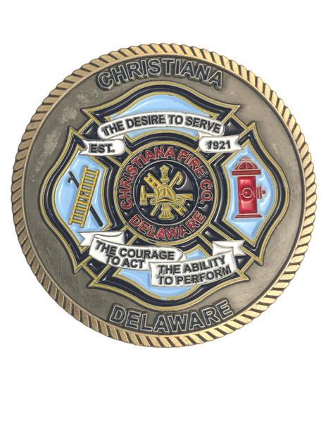 CHRISTIANA FIRE DEPT DE CHALLENGE COIN