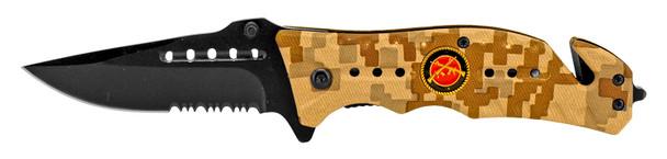 "4.5"" Spring Asst. Folding Marine Knife - Desert Digital Camo"